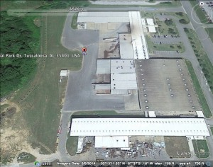 Picture of Alabama Paper Products on May 5, 2014, Credit: Google Earth