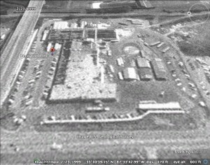 This image from Google Earth was taken in 1999 of PECO Food Inc.'s processing plant in Tuscaloosa, Alabama.