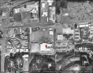 Picture of 1501 Skyland Blvd E which still houses Walmart today. Source: Google Earth